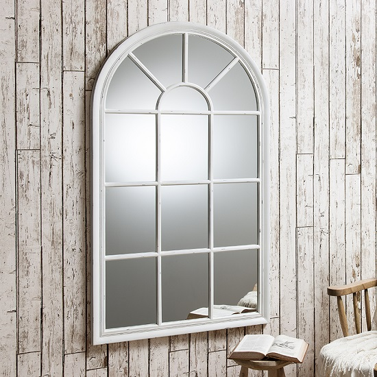 living room furniture sets uk flower decoration for fulham wall mirror in white with window pane design 26985