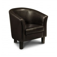 Dark Brown Leather Chair Baby High Argos Malmo Tub 13265 Furniture In Click To Enlarge