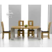 Louis Extending Solid Oak Dining Table And 8 Louis Chairs