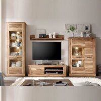 Montreal Living Room Furniture Set 1 In Walnut Satin With