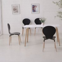 Black table white chairs | Shop for cheap Furniture and ...
