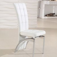 Ravenna White Faux Leather Dining Room Chair 19495