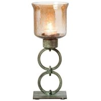 Lara Votive Small Candle Holder With Smoked Glass Top 36757