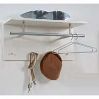 Spot Wall Mounted Coat Rack In White with Shelf 15780