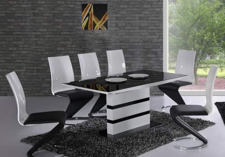 Black Granite Top Dining Table Set