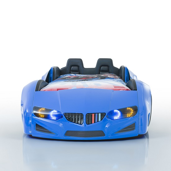 best deals on living room furniture diy shelves for 2 bmw childrens car bed in blue with led and leather seats