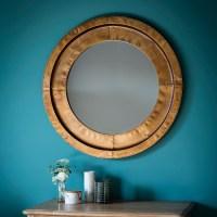 Brogan Decorative Wall Mirror Round In Gold 29018 Furniture