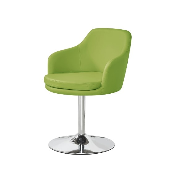 lime green bistro chairs tall table and outdoor bucketeer chair in faux leather with