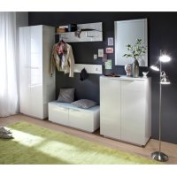 Canberra Wall Mirror Small In White High Gloss 29164