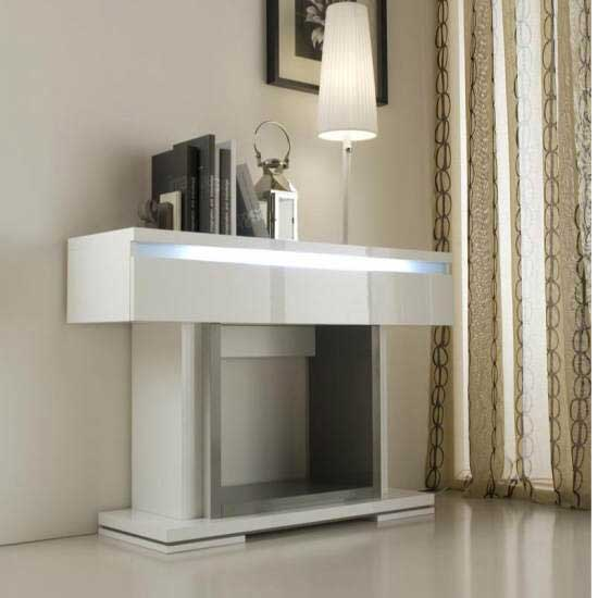 Renoir Console Table In Grey And Taupe With 1 Drawer And