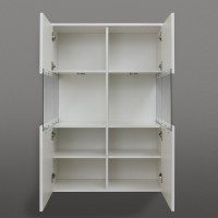 Dale Wall Mount Bathroom Storage Cabinet White High Gloss