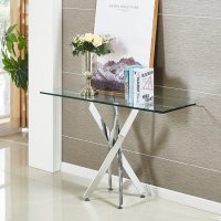 Daytona Glass Console Table Rectangular In Clear With