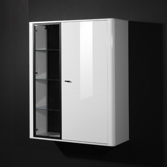 Monza Gloss White Display Cabinet 15425 Furniture in