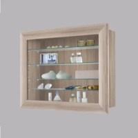 Heaven Wall Mounted Glass Display Cabinet In Canadian Oak