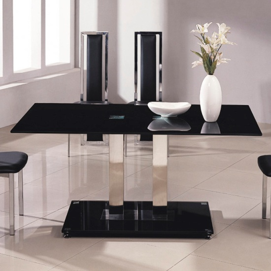 Jet Small Glass Dining Table Only 5875 Furniture in Fashion