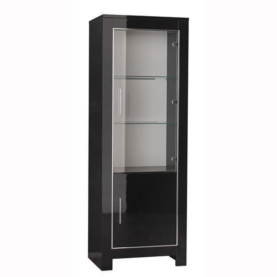 Buy cheap Black glass display cabinet  compare Furniture