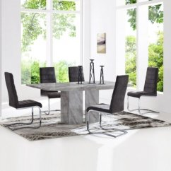 Marble Living Room Table Sets Diy Side Dining And 4 Chairs Uk Furniture In Fashion