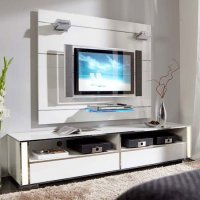Lucent Express Gloss White Plasma Entertainment Stand 7790