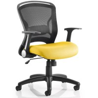 Mendes Contemporary Office Chair In Yellow With Castors