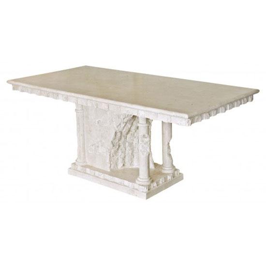 Bellagio Macatan Stone Roman Style Dining Table 19441