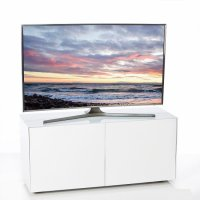 Nexus Small TV Stand In White High Gloss With Wireless
