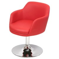 Red Bucketeer Swivel Chair, FW628R
