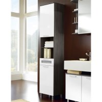 Tarragona Bathroom Cabinet, Floor Standing In White 10138 Fu