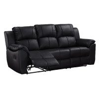 Cheap Black leather recliner sofa - best UK deals on Sofas ...