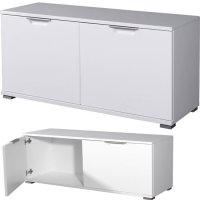 Trento Storage Cabinet In White High Gloss With 2 Doors