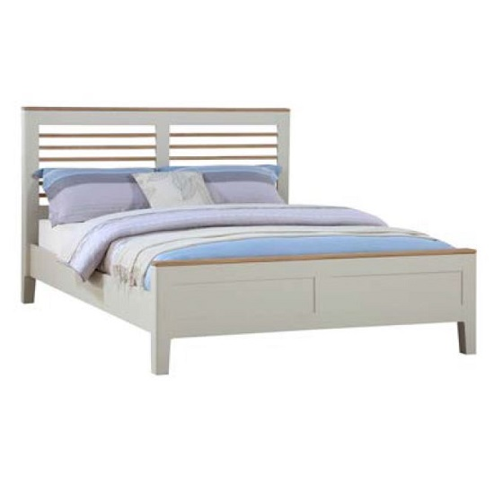 Trimble Wooden King Size Bed In Spanish White Painted Furniture In Fashion