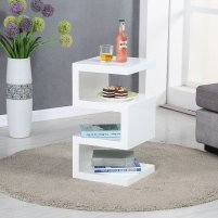Trio Modern Side Table In White High Gloss 27811 Furniture