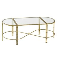 Veleso Glass Coffee Table In Clear With Metal Frame 31358