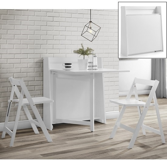 Wembley Folding Console In To A Dining Table Set In White Furniture In Fashion