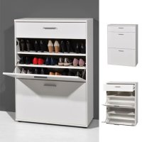 Big Foot Wall Mounted Shoe Storage Cabinet In Wooden White