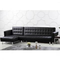 Grey Leather Corner Sofa Uk Italian Furniture Sofas In Fashion Carter Multifunctional Bed Black Faux And Pvc