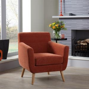 bedroom chair design french throne chairs stools uk furniture in fashion paloma fabric lounge orange with wooden legs