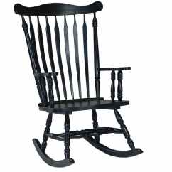 White Wood Rocking Chair Monitor Stand Williamsburg Colonial In Antique Black Paint