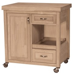 Rolling Kitchen Carts Slab Cabinets Large Butcher Block Cart Main Navigation