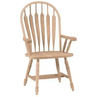 Deluxe Steambent Windsor Dining Arm Chair