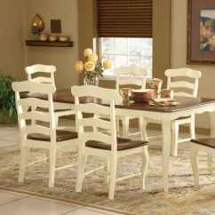 Ladderback Dining Chairs Refinish Rocking Chair Country French Wood Set
