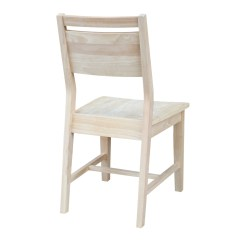 Unfinished Dining Chair Couch And Covers Nz Aspen Panel Back In Solid Parawood By Whitewood