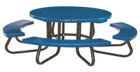 "48"" Round Children's Fiberglass Picnic Table with 1-5/8"" O ..."