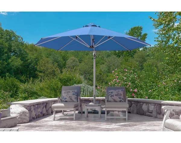 11 Ft. Octagonal Aluminum Cantilever Umbrella With Marine Grade Fabric - Furniture Leisure