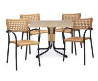 "Artica Dining Set with Plastic Resin Chairs and 31"" Polo ..."