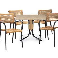 Plastic Resin Chairs Luxury Leather Office Uk Artica Dining Set With And 31 Polo Table Furniture Leisure