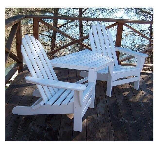 Adirondack Recycled Plastic TeteaTete Chair Set with