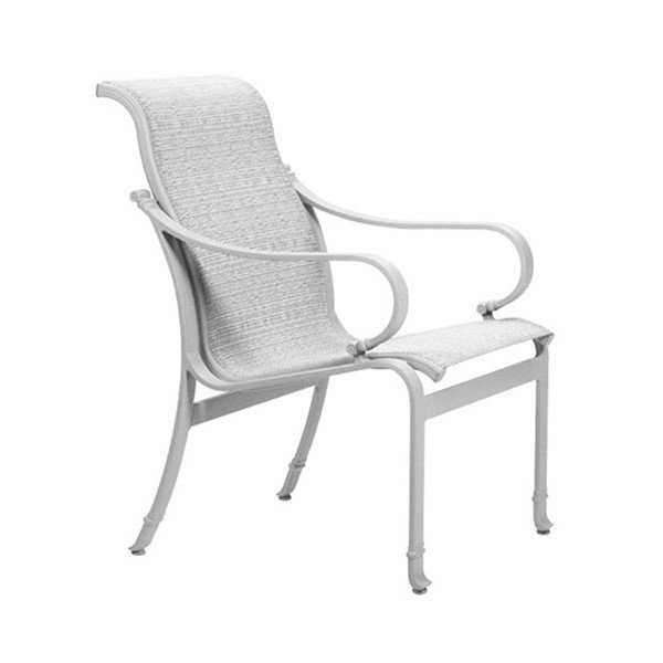 torino sling patio dining chair with aluminum frame furniture leisure