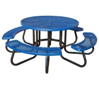 """48"""" Round Plastisol Expanded Metal Picnic Table with 1 5/8 ..."""