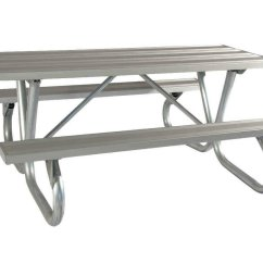 Heavy Duty Aluminum Sports Chair Swivel Drawing 8 Ft Picnic Table With Bolted 2 3