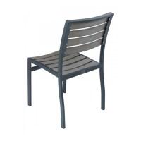 Classic Breezeway Outdoor Armless Restaurant Dining Chair ...